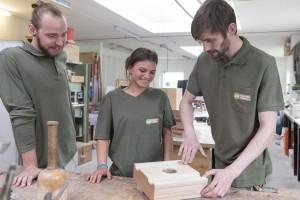 Tischlerei Herling_Team_Besprechung Holz